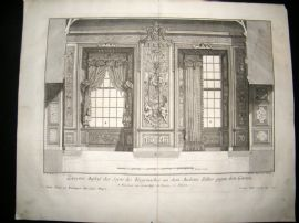 Paul Decker 1711 Folio Baroque Architectural Print. Windows & Curtains 27